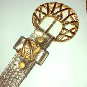 Leatherock Gold Belt